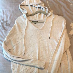 Cream designed hoodie